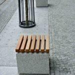 Sitzbankauflage aus Holz